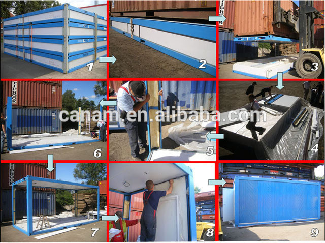 Light steel frame portable and steady office container living house