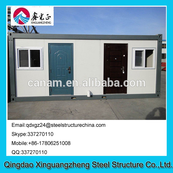 Prefab designed sandwich panel frame container toilet house