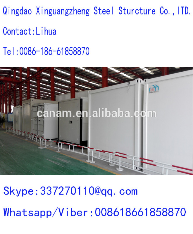 prefab house renovated sea container houe with rolling shulter doors