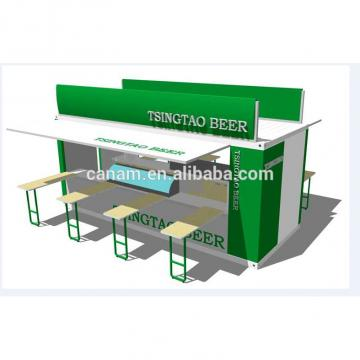 pre-made hydralic opening system container coffee shop design