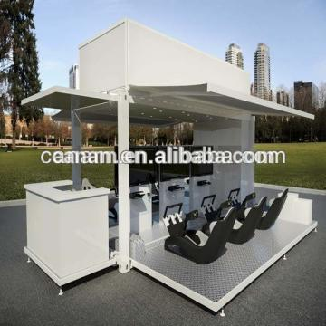 fully furnished shipping container coffee shop for mobile cafe bar design