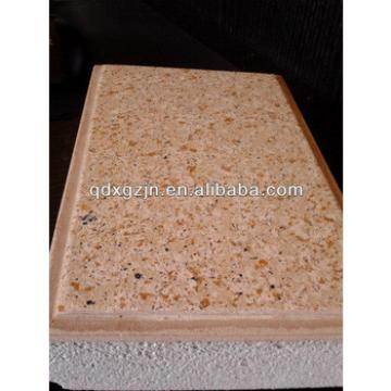 exterior decorative insulation panel with surface coating