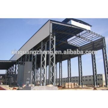 light structural steel hangar building