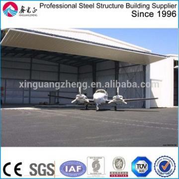 large span steel prefabricated metal airplane hangar building