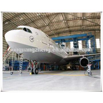 prefabricated steel structure aircraft small hangar steel