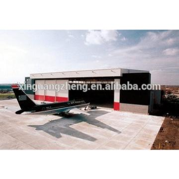 prefab steel structure small aviation hangar