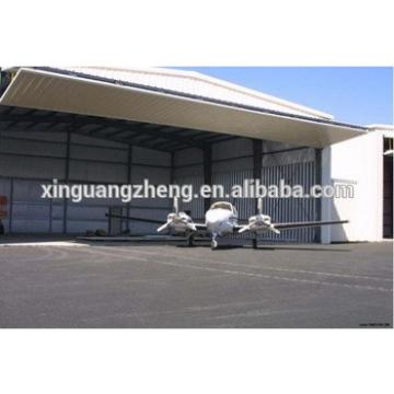 modern design prefabricated steel aircraft hangar project