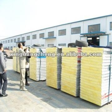 Blue color 50thickness V-950 Rock wool Sandwich Panel for roofing /warehouse /prefab house home/building project