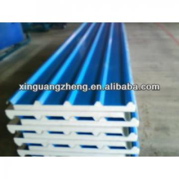 Steel roofing EPS /rock wool /glass wool sandwich panel