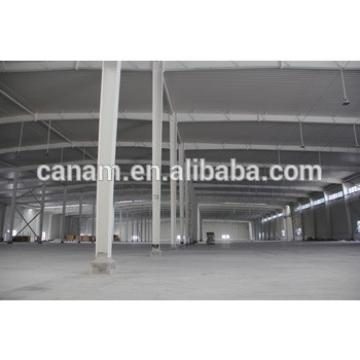 New structural steel frame warehouse construction