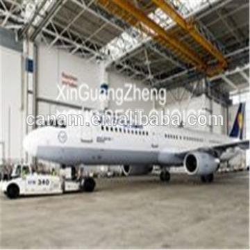 latest steel structure building sliding door hangar in steel factory