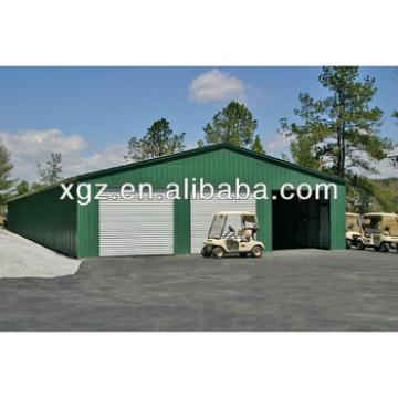 Metal building with agricultural equipment