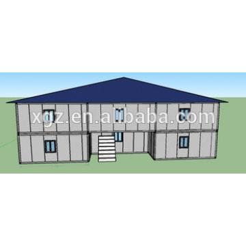 two-storey steel structure slop roof house