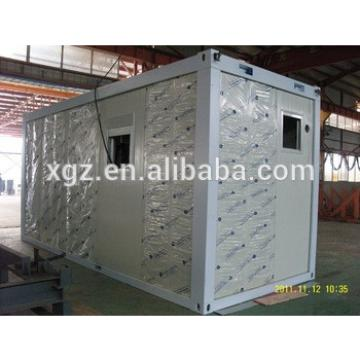 20fet color steel sandwich panel container house with shutter window