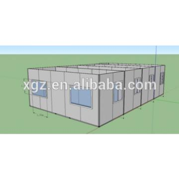 20ft flat pack container house connected for office use