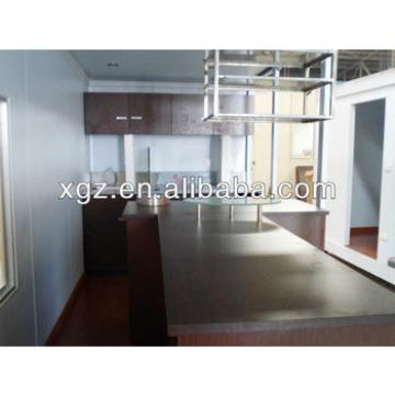 Steel structural 40 feet container house for coffee house