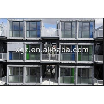 Attractive prefab container homes stacked for student dormitory