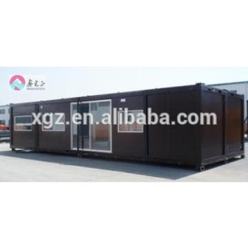 Flat packed 40 feet steel structure container house for living
