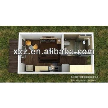 Movable 16 feet steel structure container home