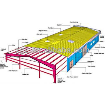light steel structural design for warehouse, workshop, plant and temporay container