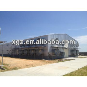 light prefab steel structure farm poultry shed for sale