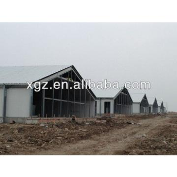 economical prefab glass wool sandwich panel steel structure chicken house for sales