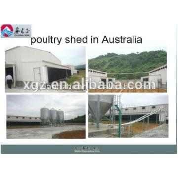Galvanized steel chicken farm building