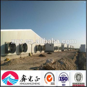 Prefabricated sandwich panel steel structure poultry chicken houses