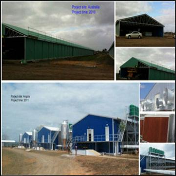 Construction building modular prefab poultry house with low price
