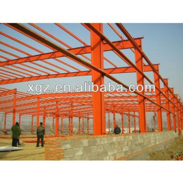 xgz corrugated steel sheet workshop with light weight steel frame