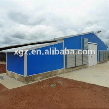 Prefabricated Metal Frame poultry House Construction