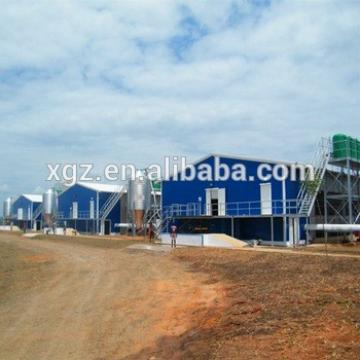Modern Commercial Prefabricated Steel Structure Kenya Chicken Farm