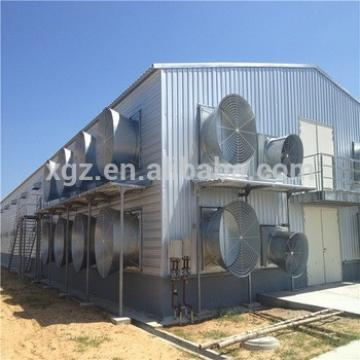 Light Steel Complete Automatic Chicken Farm In Sudan