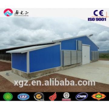 Chicken feed equipments/Steel structure poultry house, chicken farm(JW-16091)
