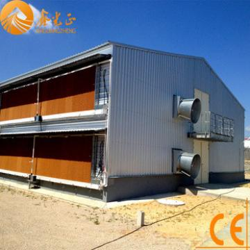 Insulated light steel structure chicken shed/ steel poultry breeding house