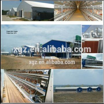 Prefabricated steel structure farm broiler poultry house shed construction design chicken house