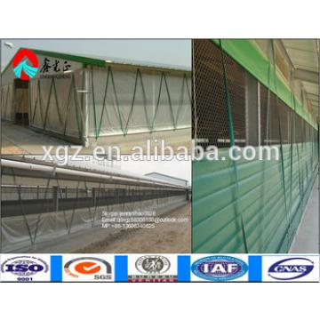 wide span galvanized steel frame broiler poultry house / steel structure chicken farm feeding house building / broiler house