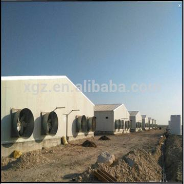 design modern prefab chicken farm with chicken equipment