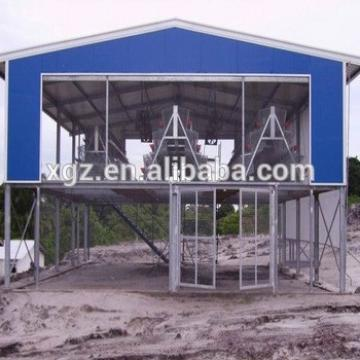 China low cost light steel frame poultry house prefab steel chicken farms
