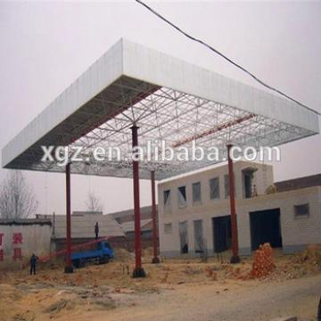 Space Frame Steel Structure Petrol Station Construction