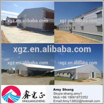 Industrial steel structure design poultry farm shed chicken house for layers