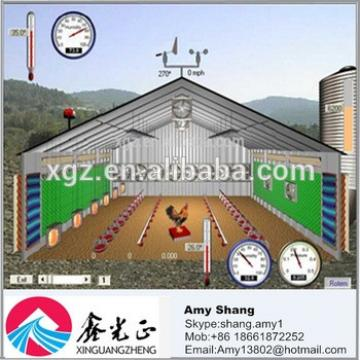 Poultry farming design for broiler chicken house/shed
