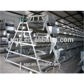 50000 birds prefabricated layer house and A type cage equipment