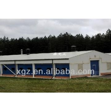 cheap advanced design steel layer poultry farms with automic feeding system