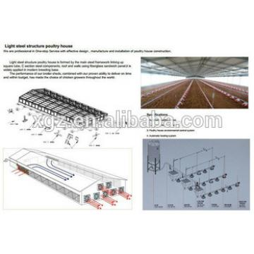 Economic design and low cost steel structure prefab chicken house