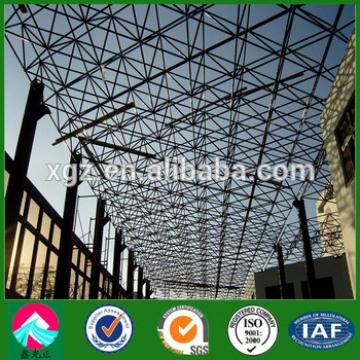 Industrial pre-built warehouse steel hangar construction