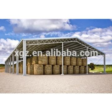 Galvanized Prefabricated Light Steel Structure Hay Warehouse Shed