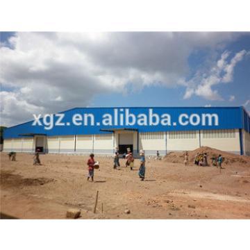 Pre engineered building system steel warehouse hangar