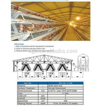 prefab automatic controlled chicken equipment farm