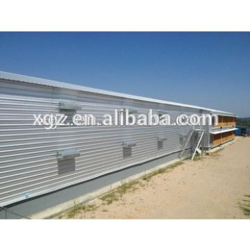 cheap modern design poultry house steel chicken shed with automatic equipment for sale